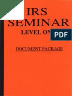 IRS Seminar Level 1, Form #12.027