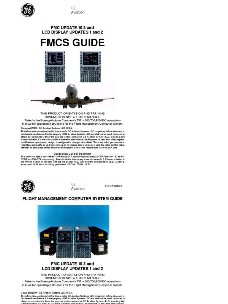 737 fms 10 8 pilot guide aviation aeronautics rh scribd com