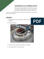 Ventajas y Desventajas de Las Turbinas Pelton