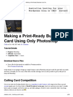 Making a Print-Ready Business Card Using Only Photoshop _ Psdtuts+