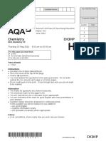 AQA GCSE Chemistry Paper