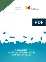 DIAC DOCUMENTO INDIVIDUAL DE ADAPTACIÓN CURRICULAR ECUADOR