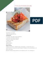 Bruschetta Di Pomodori