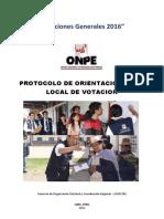Protocolo de Orientacion en El Local de Votacion 07.03.2016