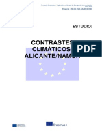 Contrastes Climáticos Alicante-Namur