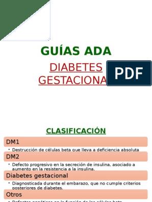 pautas ada 2020 diabetes gestacional