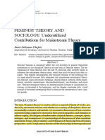 FEMINIST THEORY and SOCIOLOGY- Underutilized Contributions for Mainstream Theory