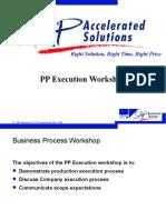 PP Execution Workshop SAP