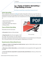 Fabric Spreading _ Types of Fabric Spreading _ Requirements of Spreading Process -