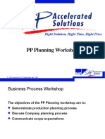 PP Planning Workshop SAP