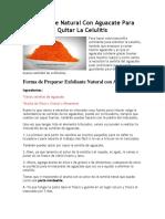 Exfoliante Natural Con Aguacate Para Quitar La Celulitis
