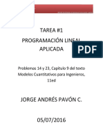 Tarea 1 - Programacion Lineal
