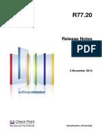 CP R77.20 ReleaseNotes