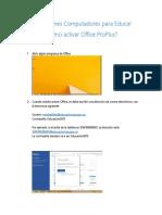 Instrucciones Para Activar Office Computadores Para Educar