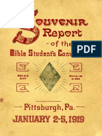 1919 - Bible Students Convention Report