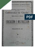 Elvira Garcia y Garcia - Educación e Instrucción