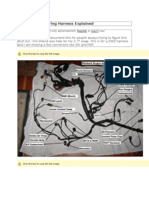 The 2003 Audi a4 1.8T Wiring Harness Explained.docx ... A Engine Wire Harness on