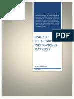 Ecuaciones - Inecuaciones - Matrices