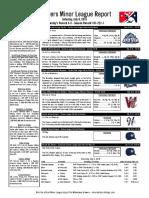 7.9.16 Minor League Report