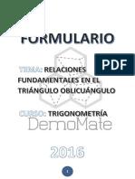 Formulario - Triángulos Oblicuángulos