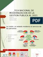 Politica Nacional de Modernizacion de La Gestion Publica