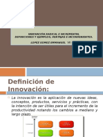 Innovacion Radical vs Innovacion Incremental