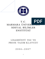Tez Yazim Klavuzu