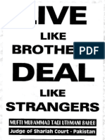 Live Like Brothers Deal Like Strangers by Sheikh Muhammad Taqi Usmani