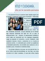 TEXTO EXPOSITIVO:Juventud y ciudadanía