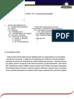 Plan Anual de Tutoría 2015 II Ciclo de Secundaria