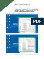 insertar paquete de provicion notebok conectar igualdad
