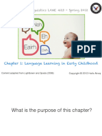 Summary How languages are learned - Chapter 1 Lightbrown