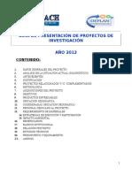 Presentacion de Proyectos de Investigacion