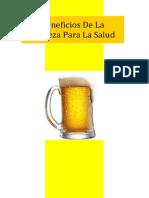 Eneficios Para La Salud de La Cerveza