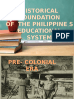 Historical Foundation of Education pt1