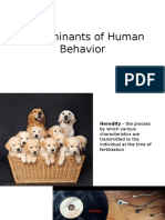 Determinants of Behavior