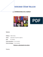 Polímeros Polimerización de Estreno 2 Ciclo Baroniii