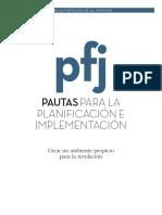 Pautas Para Planificacion e Im122plementacion de Pfj