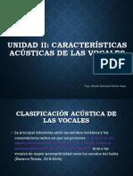 características acústicas de las vocales