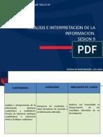 Mic Sesion9 2016-1 Analisis e Interpretacion
