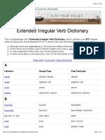 Extended Irregular Verbs List