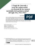 Miguel Ángel de Quevedo y  el proyecto de conservación  hidrológica forestal de las cuencas  nacionales de la primera mitad  del siglo XX, 1900-1940