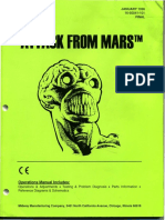Bally 1995 Attack From Mars Operations Manual