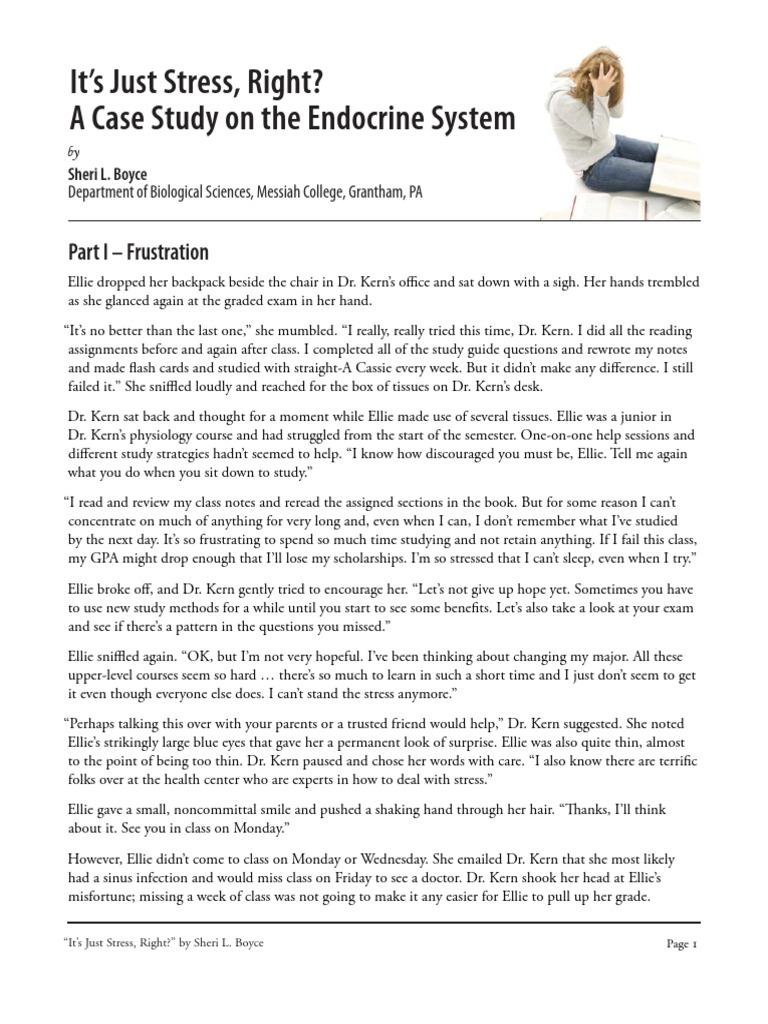 Just_stress Case Study Student Version | Thyroid | Thyroid ...
