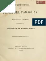 Contribuciones a la Flora del Paraguay por Domingo Parodi, familia de las amarantaceas, Buenos Aires año 1908