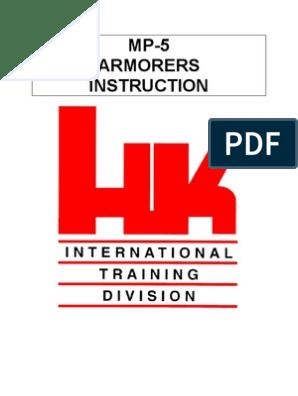 Hk Mp5 Armorers Manual | Cartridge (Firearms) | Military Technology