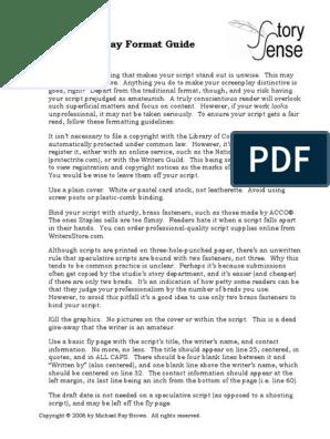 Script Format | Screenplay | Bracket