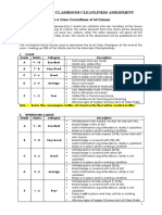 2012 Rubrics for Classroom Cleanliness Assessment