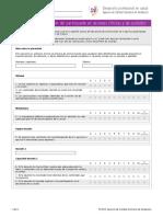 Cuestionario Satisfaccion Participante Sesiones Clinicas Cuidados