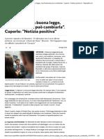 Renzi_ _Italicum Buona Legge, Ma Parlamento Può Cambiarla_. Cuperlo_ _Notizia Positiva_ - Repubblica
